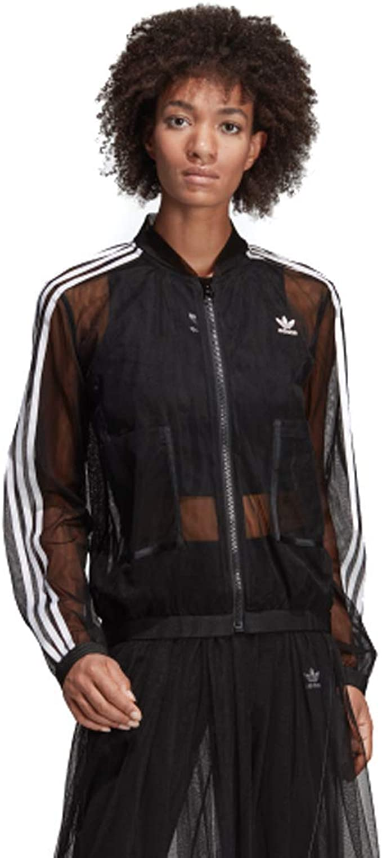 adidas Originals Sleek mesh tulle track jacket in pink