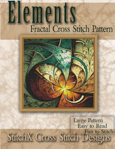 Elements Fractal Cross Stitch Pattern Cardinal Cross Stitch Patterns