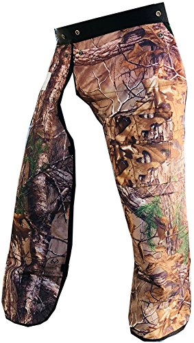 "Forester Chainsaw Safety Chaps with Pocket, Apron Style (Long 40"", REAL TREE Camo)"
