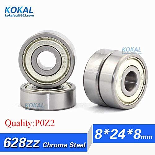 Ochoos [C628ZZ-P2] 10pcs ABEC-5 Chrome Steel Gcr15 Furniture Roller Ball Bearing 628zz 628-2z 628z 8248mm Bearing