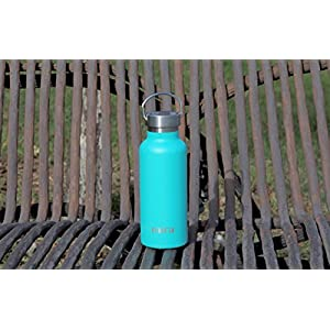 MIRA 17 Oz Stainless Steel Vacuum Insulated Water Bottle | Thermos Keeps Drink Cold for 24 hours & Hot for 12 hours, Doesn't Sweat | Large Powder Coated Sports Flask with 2 Lids | Teal