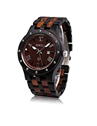 Bewell Quartz Analog Display Wrist Watches for Men with Calendar Display W109A