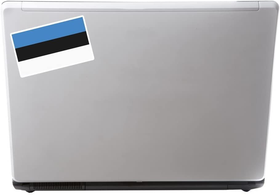 2 x Estonia Flag Vinyl Sticker Laptop Travel Luggage Car #5284