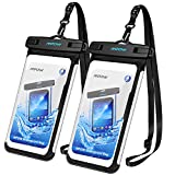 Mpow Waterproof Phone Pouch, Full Transparency IPX8 Waterproof Case with Adjustable Lanyard Universal Dry Bag Compatible for iPhone X/8/8P/7/7P, Galaxy S9/S9P/S8P/Note 8, Google/HTC up to 6.0'' 2-Pack