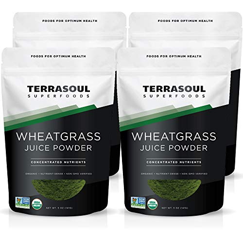 Terrasoul Superfoods Organic Wheat Grass Juice Powder, 20 Ounces - USA Grown