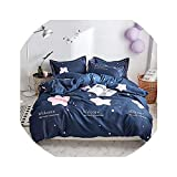 HANBINGPO Green Tree Bedding Sets 3/4pcs Singel Twin Full Queen King Bed Linings Duvet Cover Bed Sheet Pillowcases Cover Set,5,Queen Size 4pcs 1.5m
