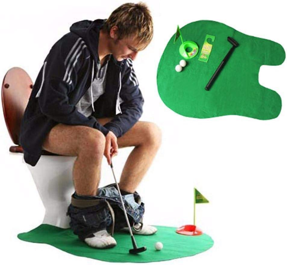 Dorime Potty PutterGame Mini Golf SetPutting Verde Regalo de la Novedad del Juguete del Juego para Mujeres y Hombres Juega el Regalo Divertido