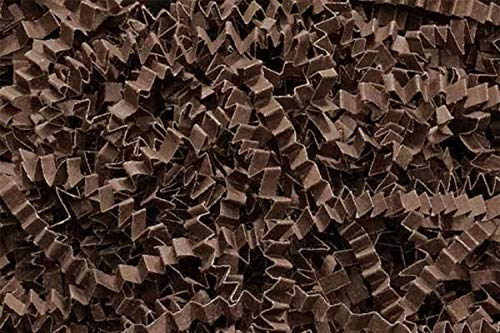 Paper Wrapping Chocolate (Crinkle Cut Paper Shred Filler (1 LB) for Gift Wrapping & Basket Filling - Chocolate | MagicWater Supply)