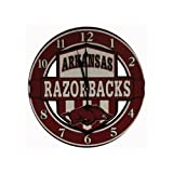 Game Day Outfitters NCAA Arkansas Razorbacks Shield Overlay Clock, One Size, Multicolor