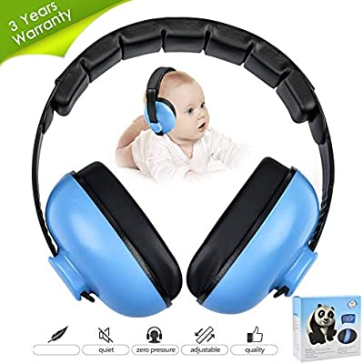 7c2855518d9 Amazon.com : Noise Cancelling Headphones for Kids, Babies Ear Protection  Earmuffs Noise Reduction for 0-3 Years Babies, Toddlers, Infant (Blue) :  Baby