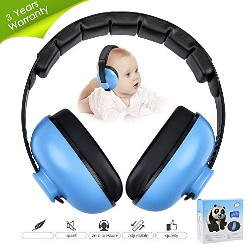 Noise Cancelling Headphones for Kids, Babies Ear Protection Earmuffs Noise Reduction for 0-3 Years Babies, Toddlers, Infant (Blue)
