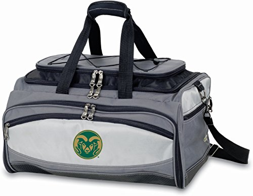 Colorado State Embroidered Buccaneer Cooler Grey/Black by PICNIC TIME
