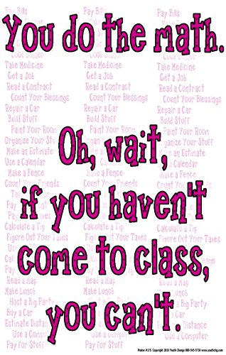 - Poster #175 Math Classroom Motivational, Inspirational Poster for High, Middle, Elementary: You Do the Math