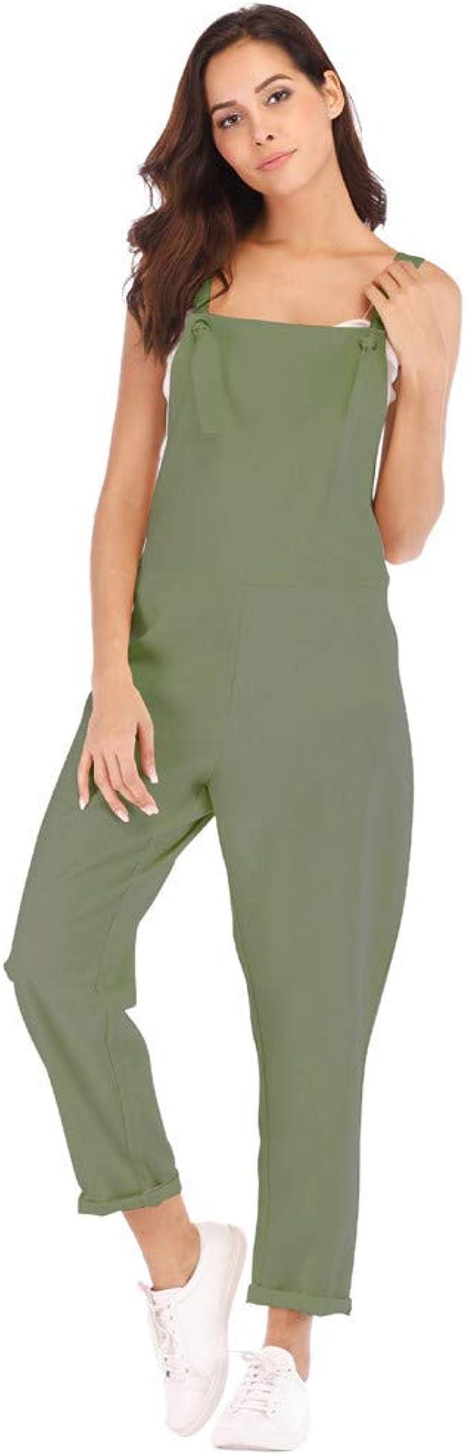 RISTHY Petos de Pantalones Largo Casual para Mujer, Monos Verano ...