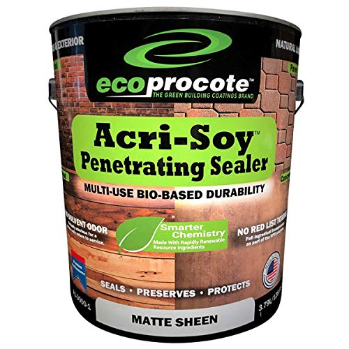 EcoProCote Acri-Soy Penetrating Concrete and Wood Sealer | Non-Toxic Porous