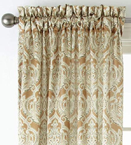 - Royal Velvet Hilton Damask Rod-Pocket Curtain Panel 54
