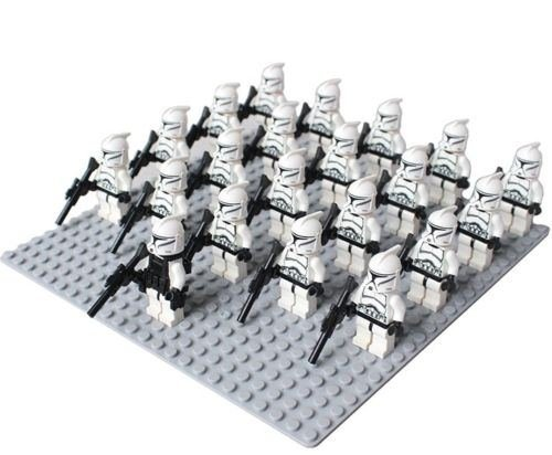 21pcs clone troopers white combat team