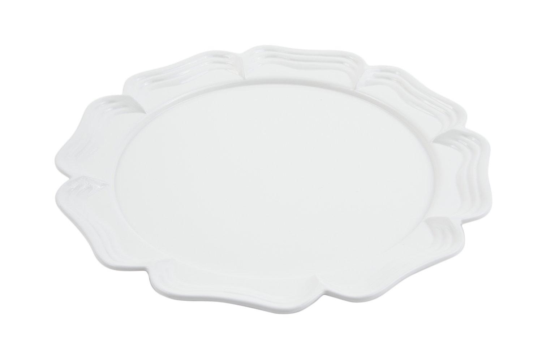 Bon Chef 2062 Aluminum Oval Platter, 20'' Diameter, Sandstone White