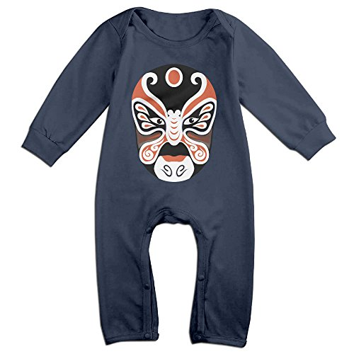 Concubine Costume (PAGE2 Peking Opera Face Mask Newborn Babys Long Sleeve Jumpsuit Outfits Navy Size 12 Months)