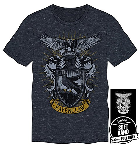 HARRY POTTER Hogwarts House of Ravenclaw Crest & Eagle Men's Burgundy Tee T-Shirt Shirt-X-Large