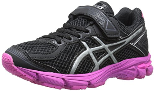 ASICS GT 1000 4 PS PR Running Shoe , Black/Silver/Pink Ribbo