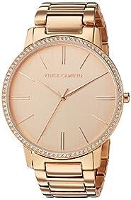 Vince Camuto Women's VC/5328RGRG Swarovski Crystal Accented Rose Gold-tone Bracelet Watch