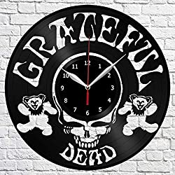 Grateful Dead Vinyl Record Wall Clock Original Gift Unique Design Handmade Decor Home idea