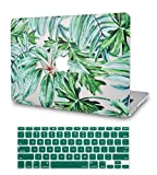 LuvCase 2 in 1 Bundle Rubberized Hard Shell Case Cover with Keyboard Cover Compatible MacBook Old Pro 13' Case Retina A1502 / A1425, Released 2015/2014/2013/end 2012 (Rainforest)