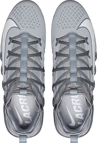 Nike Mens Huarache 6 Elite Lacrosse Kikkers Ons Grijs / Wit