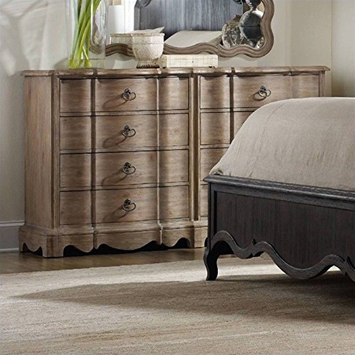 Hooker Furniture Corsica 8-Drawer Double Dresser in Light Wood ()