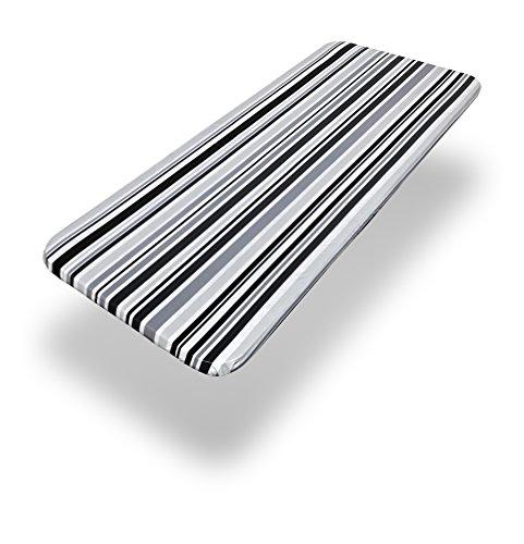 - Carnation Home Fashions DFLN-F4872/BS31 Bohemian Stripe Fitted Vinyl Tablecloth, 48