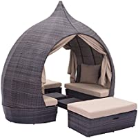 Zuo Majorca Daybed, Brown/Beige