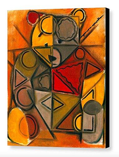 Amazon Com Tommervik Abstract Cubism Teddy Bear Art Teddy
