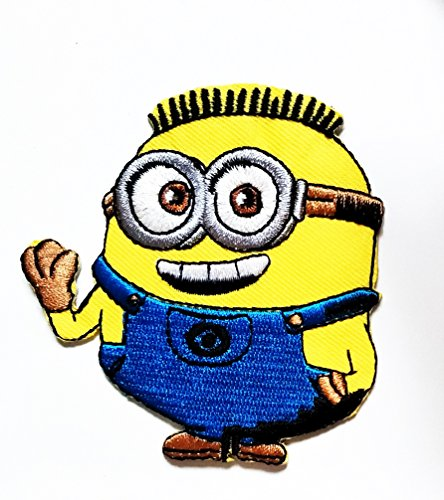 Despicable Me Minion cartoon kid Patch Cartoon Movie patch Kid Baby Boy Jacket T Shirt Patch Sew Iron on Embroidered Symbol Badge Cloth Sign - Me Logo Minion Despicable