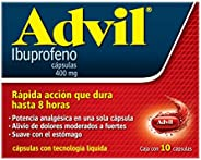 Advil Analgésico 400 mg Dolores Moderados a Fuertes Caja con 10 cápsulas