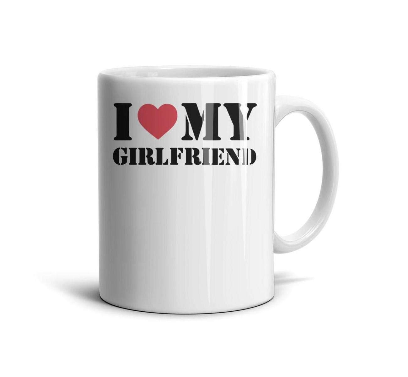 devrrssx I Love My Girlfriend Cool Mugs Great Gift 1 Set for Office and Home for husbandMaximum Capacity 13.5oz