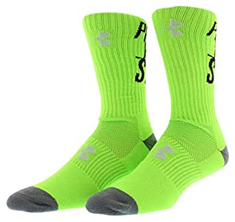Under Armour Men's UA Prove Yourself Crew Socks Large HYPER GREEN