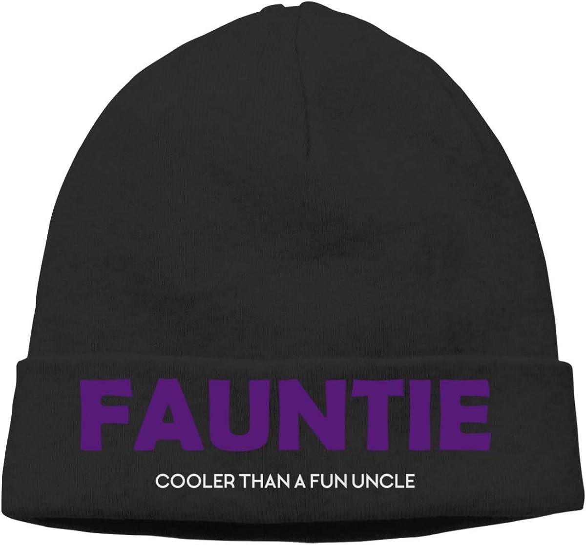 Riokk az Fauntie Cooler Than A Fun Uncle Beanie Hats Skull Caps for Mens Black