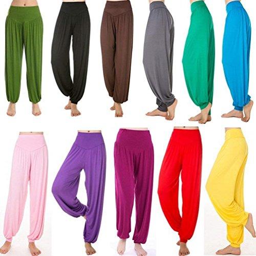 Elastica Donna Accogliente Di Solidi Eleganti Pantaloni Danza Women Yoga Blauer Pluderhose Sciolto Grazioso Tempo Libero Lanterna Colori Giovane Harem See Estivi Vita Fashion rrqzwSx4