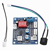 ELEGIANT DC 12V PWM PC CPU Temperature Controller Board - 4 Wires Fan Speed Controller with High-Temp Alarm