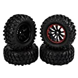 4pcs 1.9 Inch 96mm RC Crawler Tires Tyre and Wheel Rims 12mm Hex Hub for 1/10 RC Crawler Buggy Car
