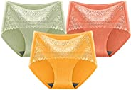 UOKNICE Christmas Womens Cotton Seamless Soft Hipster Mid Rise Panties Microfiber Lace Brief
