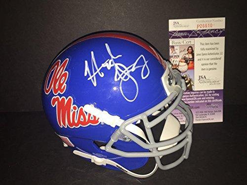 Hugh Freeze Ole Miss Rebels Autographed Signed Mini Helmet JSA COA