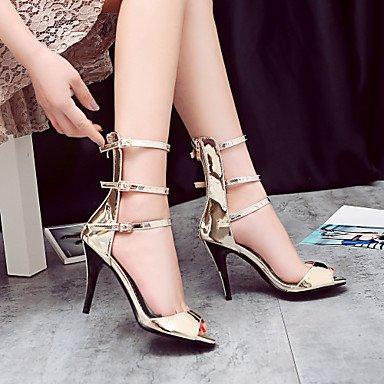 LvYuan sandalias de verano zapatos del club de gladiador comodidad materiales personalizados banquete de boda&noche tacón de aguja ocasional dark grey