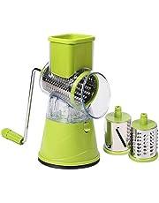 lujiaoshout 1 Réglage Manuel Coupe-légumes trancheuse Multifonctions Ronde Mandoline de Pommes de Terre au Fromage Slicer Matériel de Cuisine - Vert