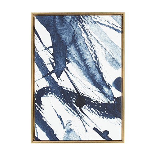 Kate and Laurel - Sylvie Indigo Watercolor Abstract Print