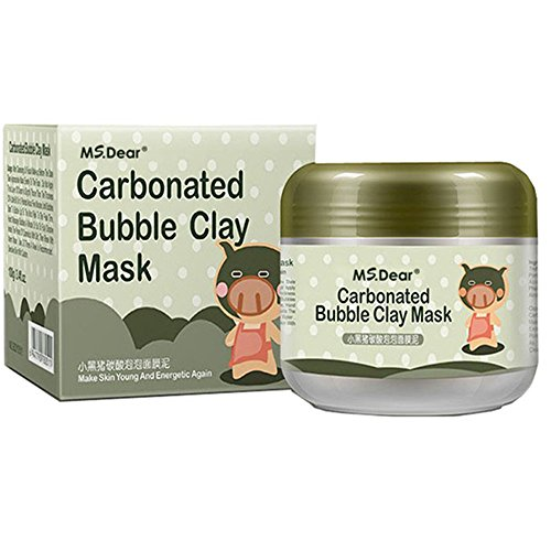 MS.DEAR Carbonated Bubble Clay Mask Bubbles Mud Mask Moisturize Deep Cleansing Face Mask 3.52 oz