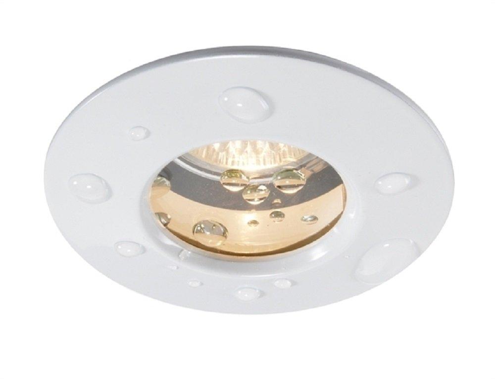 Faretto a incasso led tenuta stagna IP65 7w 12V illuminazione doccia bagno turco - Luce Bianco caldo colore Silver Planetitaly