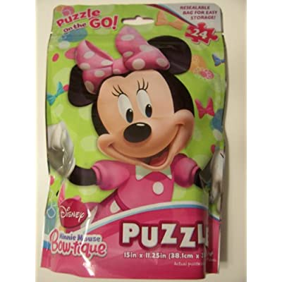 Disney Minnie Mouse Bow-tique 24 Piece Puzzle in a Bag ~ Minnie: Toys & Games