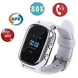 Hangang Kid Watch Tracker T58 Sport Multi Function Wristwatch for Boy Girl Children Gift (silver)